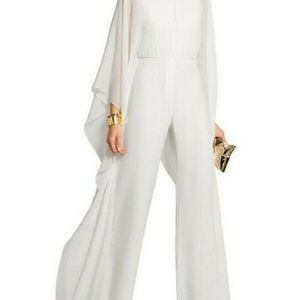 New white long sleeve jumpsuit